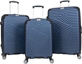 Ben Sherman Bangor 3-Piece Lightweight Hardside PET 8-Wheel Spinner Expandable Luggage Set; 20