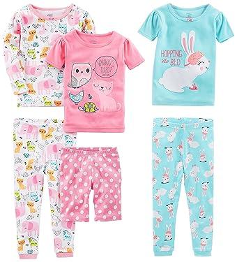 Simple Joys by Carter's Juego de pijama de algodón de 6 piezas