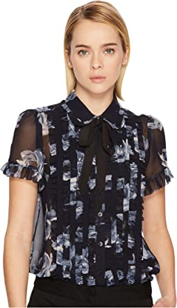 Kate Spade New York - Night Rose Short Sleeve Top