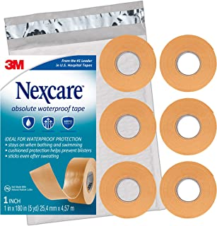 Nexcare Absolute Waterproof First Aid Tape, Tears Easily, For Water Related Activities, 6 Rolls