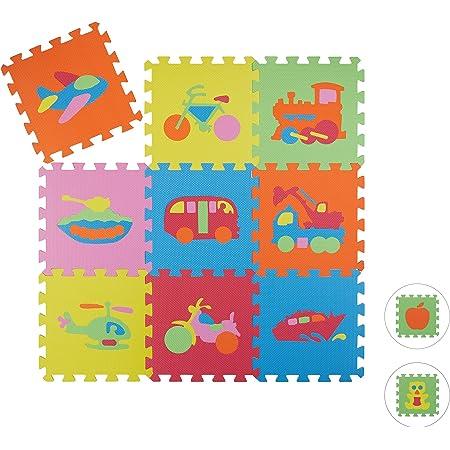 XPE-Schaumstoff 10032676 HBT 1x195x150 cm Spielteppich Kinder abwaschbar bunt Relaxdays Spielmatte Waldtiere schadstofffrei 1 st/ück