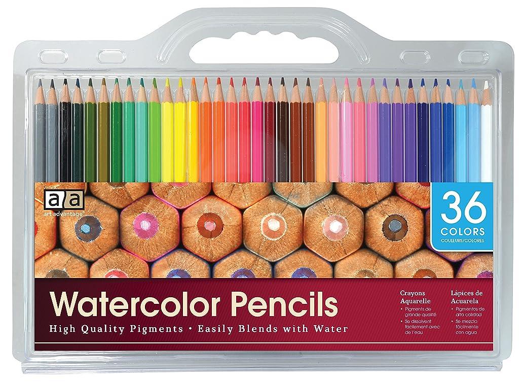 Art Advantage 36 Color Watercolor Pencil Set