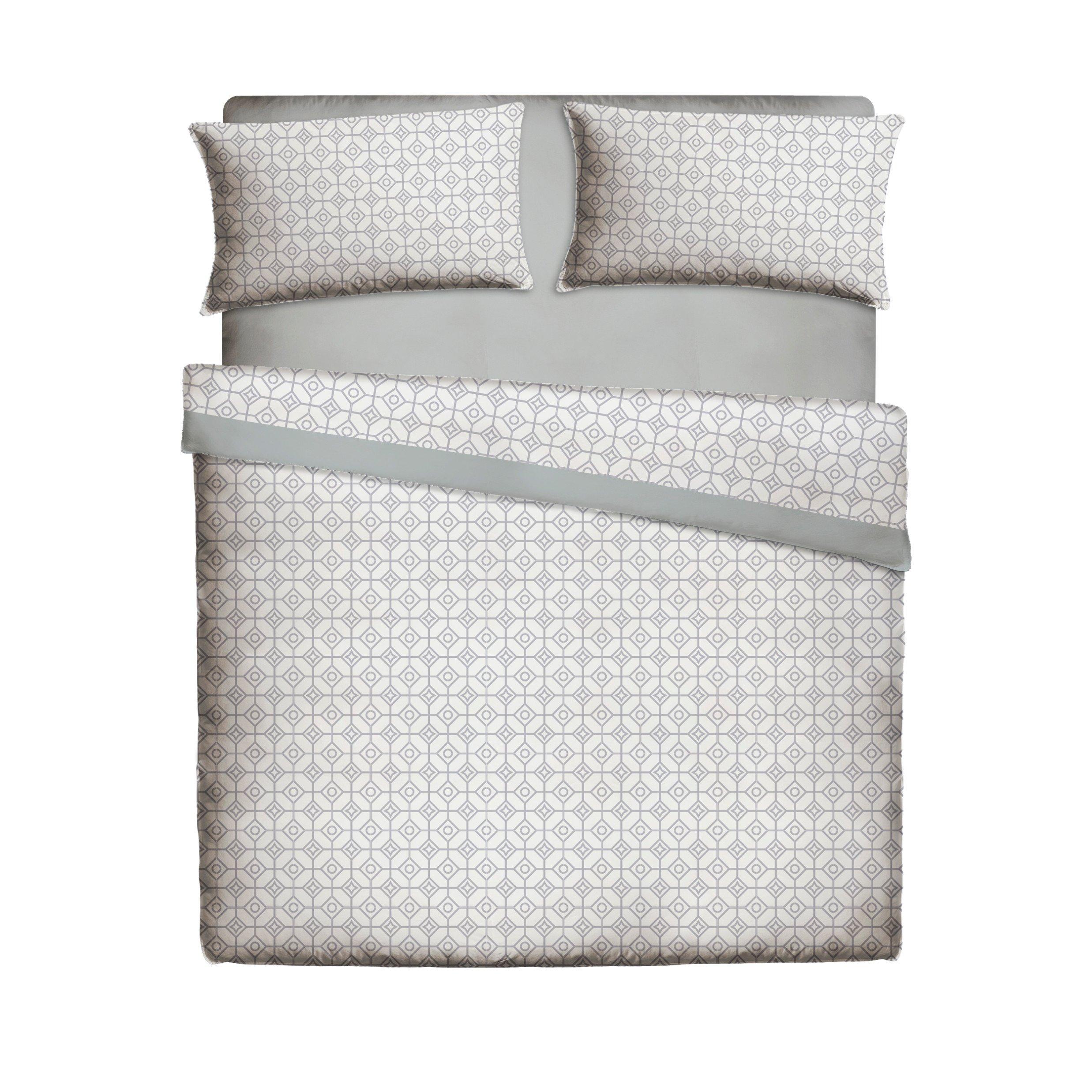 Casa Lieri - Juego de sábanas, algodón, 50% poliéster, colorgris. Cama de 150 (Todas las medidas): Amazon.es: Hogar