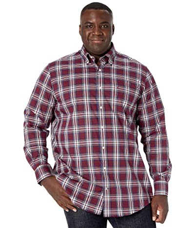Nautica Big & Tall Big Tall Long Sleeve Woven (Zinfandel) Men