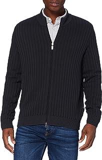 Maerz Men's Strickjacke Baumwolle Zip Cardigan Sweater