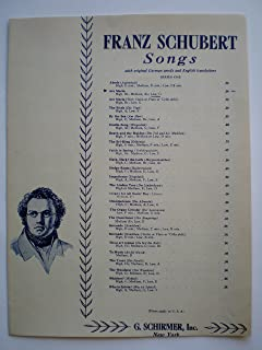 27507 FRANZ SCHUBERT SONGS