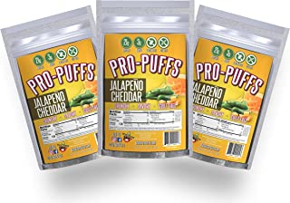 Pro-Puffs™ Jalapeno Cheddar | 21g Protein - 3g Carbs | High Protein Puffs | Low Carb, Keto Friendly, Gluten Free, Soy Free, Peanut Free | (Jalapeno Cheddar, 3 Pack)