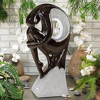 "John Timberland Graceful Form Modern Zen Outdoor Floor Water Fountain with Light LED 43"" High for Yard Garden Patio Deck Home"