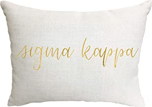 Sigma Kappa Sorority Throw Pillow
