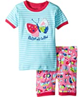 Hatley Kids - Pretty Butterfly Short Pajama Set (Toddler/Little Kids/Big Kids)