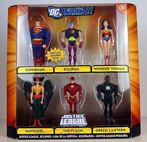 DC Universe Exclusive Action Figure 6-Pack ECLIPSED (Superman , Eclipso , Wonder damen , Hawkgirl , The Flash , Grün Lantern )