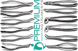 12 Pcs Dental Extracting Forceps 23, 65, 88L, 88R, 150, 151, 150S, 151S, Md1, Md2, Md3, Md4 Lower Upper Full Sets
