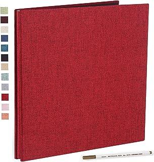 Vienrose Album Photo Adhésif Scrapbooking Magnétique 40 Pages en Lin Relié 33x32 cm avec Un Stylo Métallique pour Mariage ...