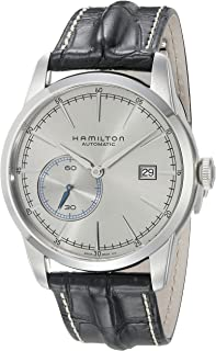 Hamilton Men's 'Timeless Classic' Swiss Automatic Stainless Steel and Leather Casual Watch, Color Black (Model: H40515781)