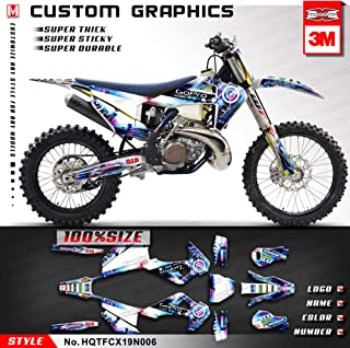 Kungfu Graphics Custom Decal Kit for 2019 2020 Husqvarna TC 125 TC125 TC 250 TC250 FC250 FC 250 FC350 FC 350 FC450 FC 450, Purple, HQTFCX19N006