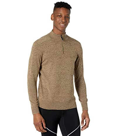 Smartwool Sparwood 1/2 Zip Sweater (Camel Heather/Military Olive Heather) Men