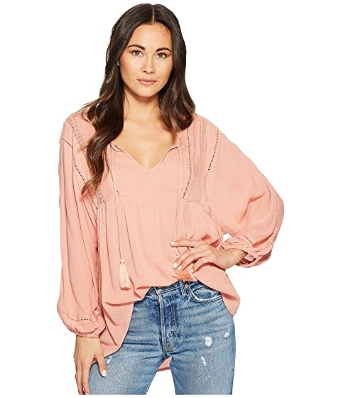 Amuse Society Cool Breeze Woven Top Desert Rose For Sale Sale Online Sale Collections Inexpensive For Sale Discount Explore Mu1QEWcwIS