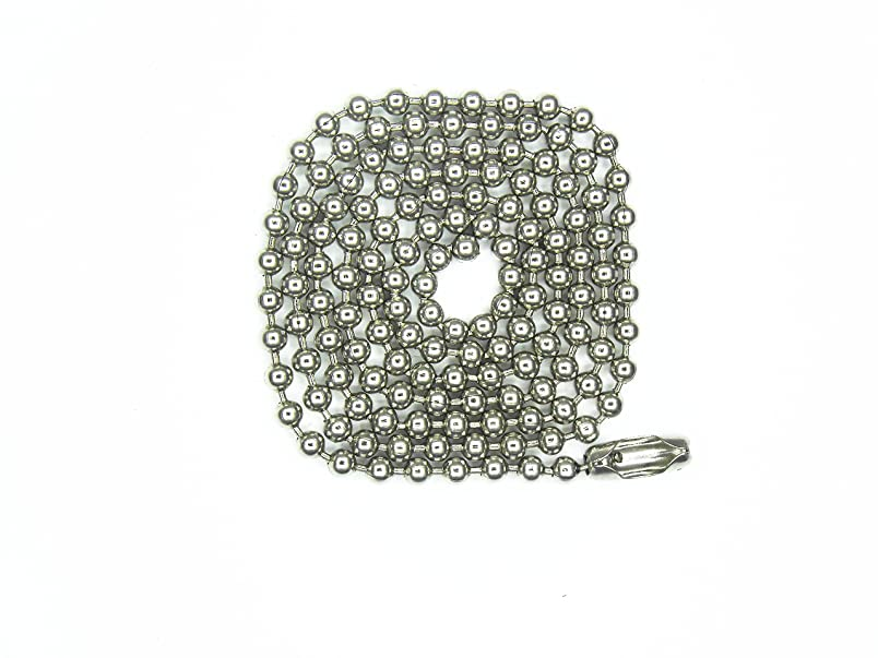 Glory Qin 3.2mm Stainless Steel Ball Chains & 60 Matching connectors (#6, 40 Feet) aj902264547