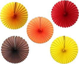 product image for Autumn Themed 13 Inch Hanging Tissue Fans, Set of 5