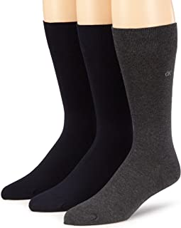 Calvin Klein Men's 3 Pack Combed Flat Knit Socks