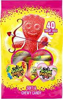 Sour Patch Kids Valentine's Day Variety Candy Treat Size Pack - 40Count with Watermelon & Original Flavor