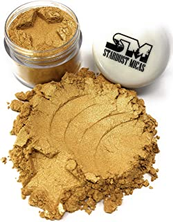 Stardust Micas Gold Pigment Powder for Resin, Metallic Gold Pigment Powder, Gold Cosmetic..