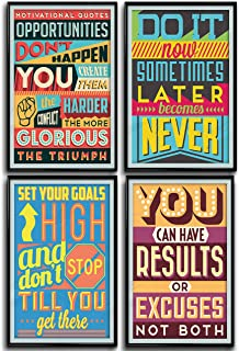 Throwback Traits Posters for Classroom or College. Art Prints with Motivational and Inspirational Quotes. Positive Vibes Wall Poster Arts. These Set of Four Posters is a Great Home Decoration Idea