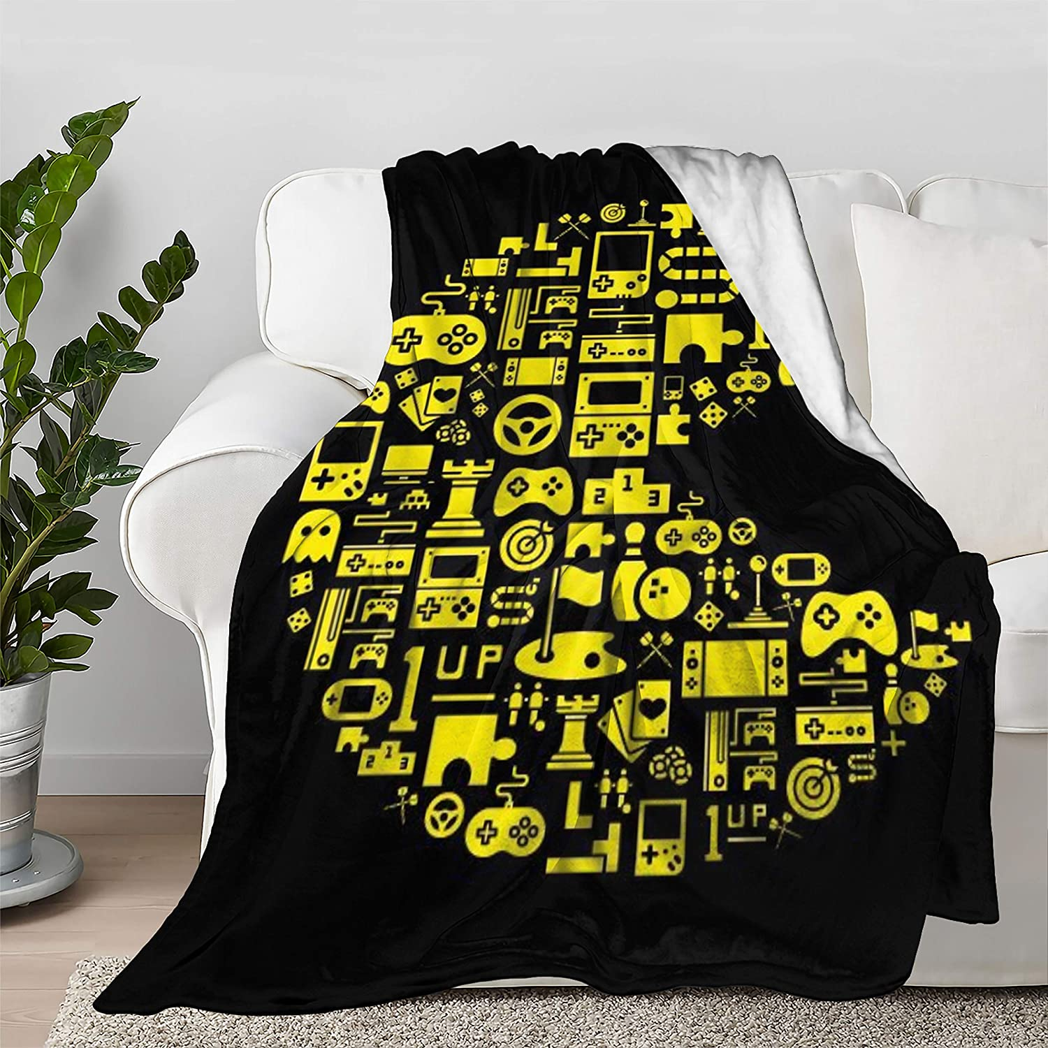 Video Game Decor Retro Throw Tucson Mall Bedspread Blanket Houston Mall Quilt Ult Flannel
