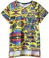 Moschino Kids - Short Sleeve All Over Logo Graphic T-Shirt (Big Kids)