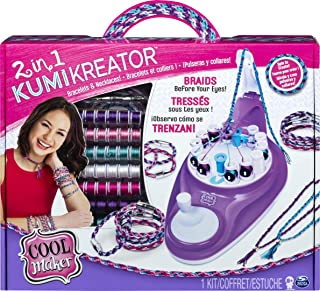 Cool Maker 2-in-1 KumiKreator, Necklace and Friendship Bracelet Maker Activity Kit, for Ages 8 and Up