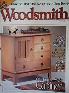 Woodsmith Magazine - October 2001, (Vol. 23, No. 137) - Craftsman-Style Cabinet , 10 Handy Drill Press Tips, Arts & Craft Clock, Barrister's CD Cases, Clamp Storage, 5 Shop Tips for Installing Drawers, Stacking CD Cases: Barrister's Style, Art & Craft Clock, Simple Clamp Storage Solutions, ETC. ETC.