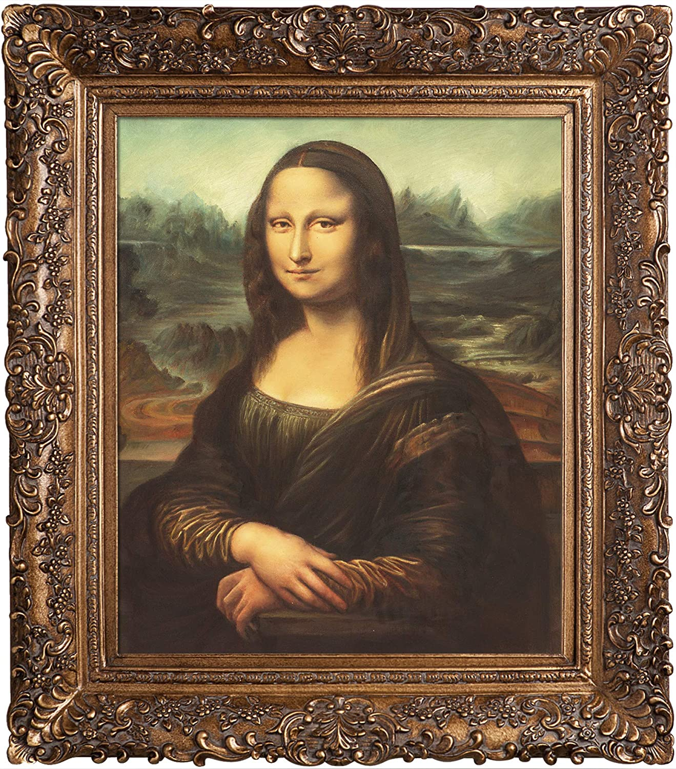 overstockArt Mona Lisa with San Francisco Mall Burgeon Gold Frame by Oil Philadelphia Mall D Painting