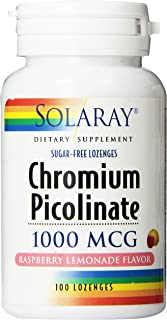 Solaray Chromium Picolinate Lozenges 1000mcg, | 100 Count