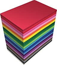 100 Pack EVA Foam Sheets, 5.5 x 8.5 Inch, Assorted Colors (20 Colors), 2mm Thick, by Better Office Products, for Arts and ...
