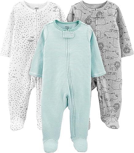 Simple Joys by Carter's 3-Pack Sleep and Play Mixte bébé, Lot de 3