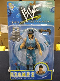 WWF S.T.O.M.P. 2 Series - Underwater Siege - Chyna Action Figure - w/ Accessories - 1998 - Jakks - Limited Edition - Collectible