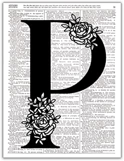 P - Monogram Wall Decor, Letter Wall Art, Dictionary Page Photo Print, 8x10 UNFRAMED