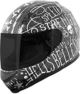 Speed and Strength SS700 Hell's Belles Adult Street Motorcycle Helmet - Black/Small