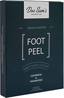 Exfoliating Foot Peel Mask 2-Pack - Extra-Strong Baby Feet Peeling Mask - Chemical-Free Dead Skin Exfoliator - Natural Pee...