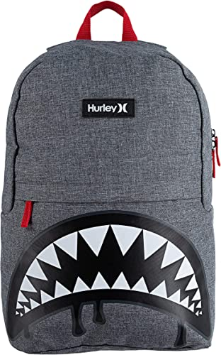 high quality Hurley Kids' One discount and Only Backpack, Grey popular Shark Btie, Large outlet sale