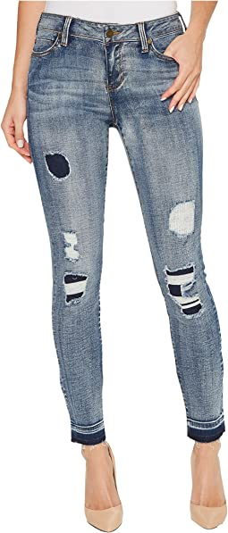 Parker Released Hem Ankle Skinny in Vintage Super Comfort Stretch Denim in Hyperion Wash