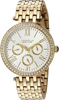 Caravelle New York Women's 44N109  Swarovski Crystal Gold Tone Watch