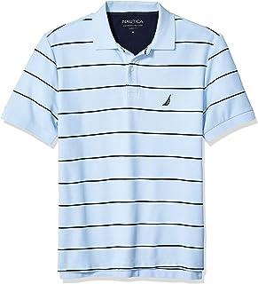 NAUTICA Men's Striped Performance Deck Polo Shirt