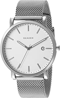 Men's Hagen Watch in Silvertone with Mesh Bracelet