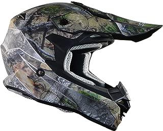 Vega Helmets VF1 Lightweight Dirt Bike Helmet – Off-Road Full Face Helmet for ATV Motocross MX Enduro Quad Sport, 5 Year Warranty (Skull Camo, X-Large)