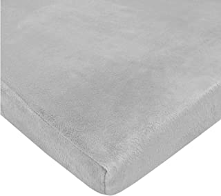 American Baby Company Heavenly Soft Chenille Fitted Pack N Play Playard Sheet, Gray, 27 x 39, for Boys and Girls