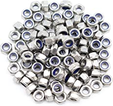 binifiMux 100pcs 304 Stainless Steel M6-1.0 Nylock Nylon Inserted Self Locking Nut, A2-70 Silver