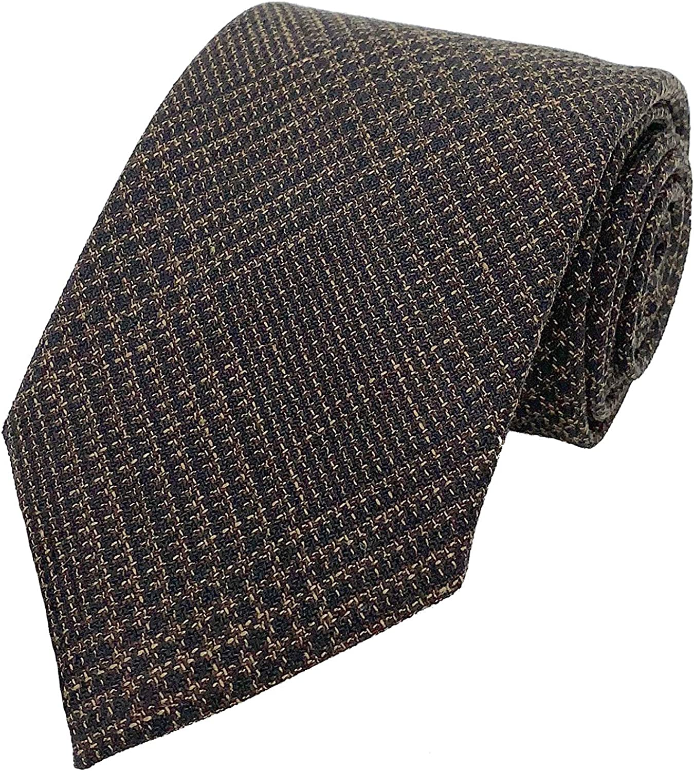 Tom Ford Mens Our shop OFFers the best service mart Textured Prince of Brown Tie Wales Neck Dark