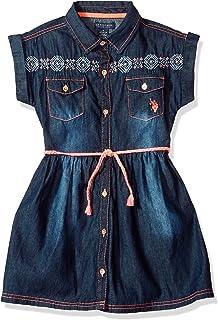 U.S. Polo Assn. Vestido casual para niña