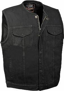 Hombres de SOA, diseño vaquero chaleco oculta (W/Cremallera Oculta W/1pistola de bolsillo interior